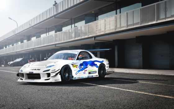 mazda, тюнинг, drift, car, jdm, white, картинка,