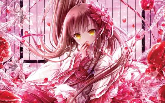 eyes, волосы, anime, long, девушка, yellow,