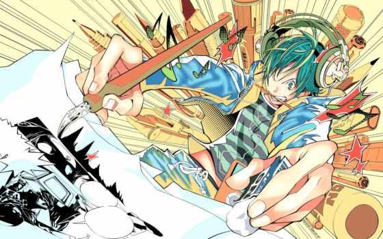 anime, кисточка, artist