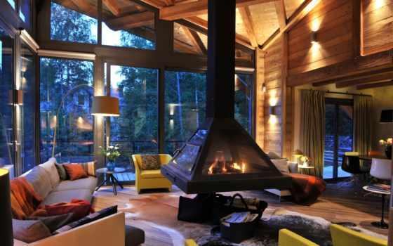 камин, design, интерьер, house, мебель,