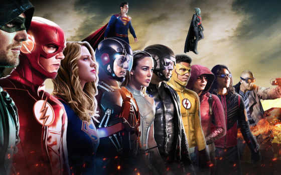 earth, crisis, supergirl, стрелок, flash, season, legends, кроссовер,