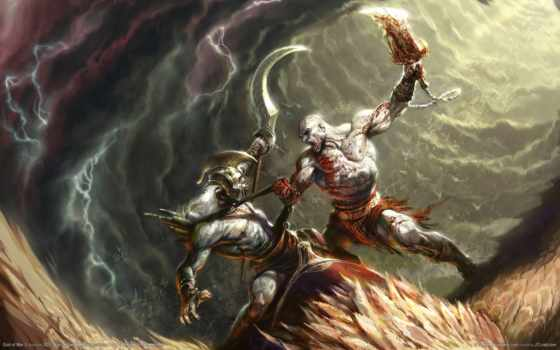 god, war, нравится, игры, кровь, kratos, прохождение, битва,