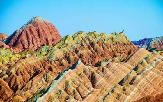 zhangye, danxia, китаянка, скалы, чжанъе, скалистое, данься, уникальное, разноцветные, formation, году,