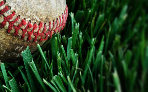 baseball, grass, macro, sports, download, full, view,