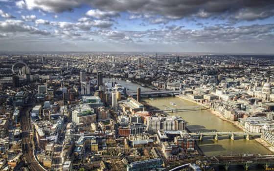 города, озеро, vyrnwy, башня, красивые, англия, wales,