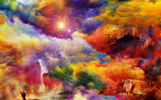 cosmos, фотообои, фотопанно, watercolor, фотообоев, беларуси, доставка, sale, manufacture, космос, рисованный,