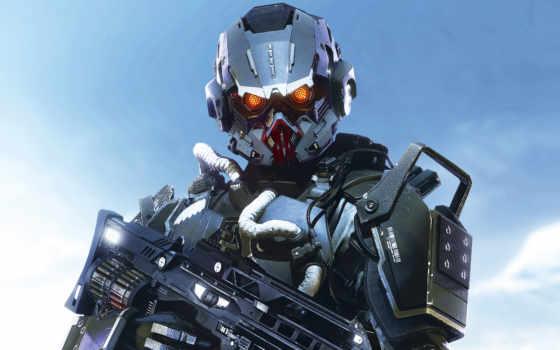 игры, killzone, пасть, военные, солдат, shadow, android, robot, automata,