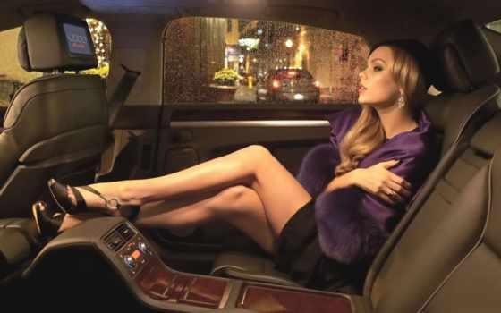 девушка, devushki, seat, заднем, автомобиля,