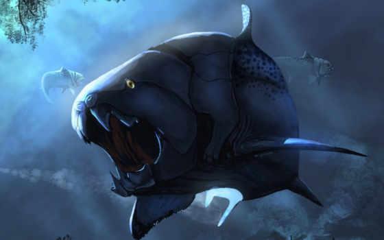 рыба, динозавр, нравится, dunkleosteous, fantasy, dunkleosteus, pack,