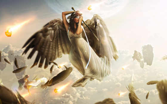 девушка, крылья, ангелы
