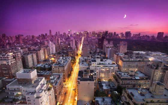 new, york, закат