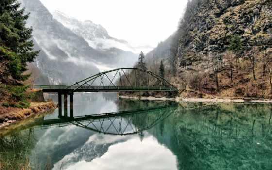 природа, мосты, заставки, сквозь, free,