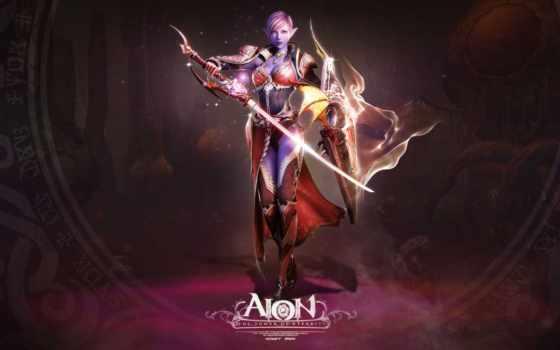 aion, anime, показать, гладиатор, shooter, девушка, online, бесплатные, щит, меч,