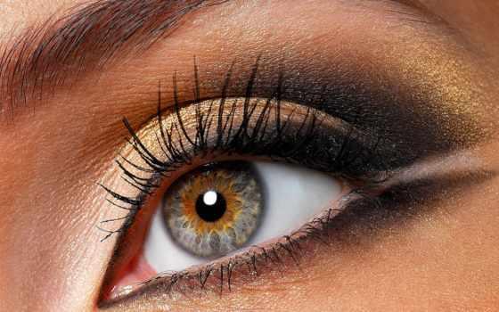 макияжа, глаз, уроки