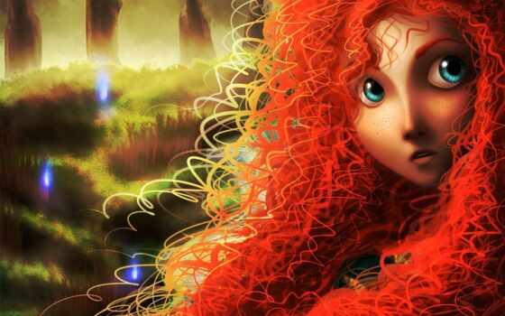 девушка, рыжая, art