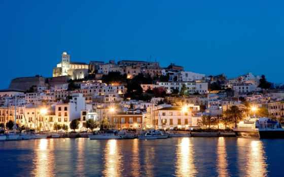 ibiza, испания, остров, ночь,