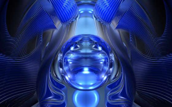 blue, шар, glass