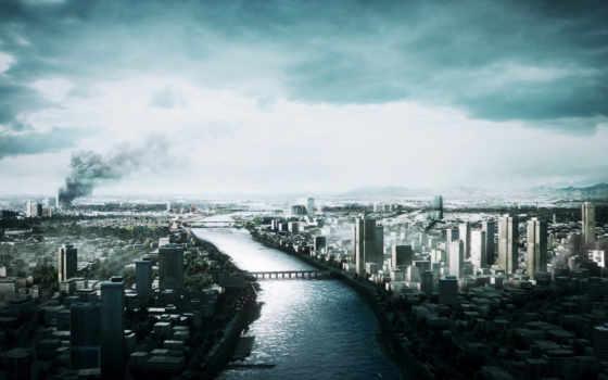 war, battlefield, город