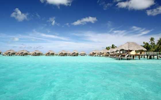 bora, resort, пляж, pearl, blue, lagoon, tranquil, water, villas,