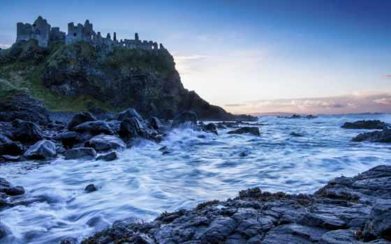 castle, море, развалины, live, дек,