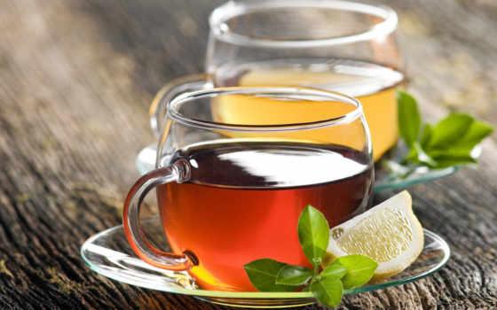 две, one, cup, чая, чашки, чая,