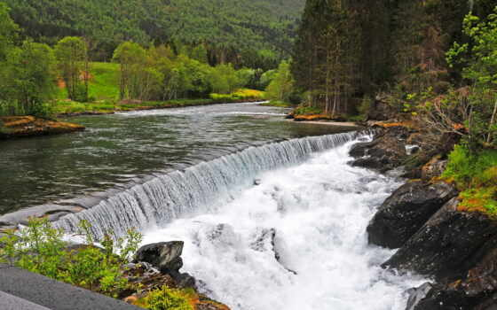 водопады, природа, página