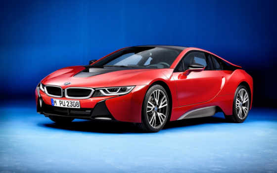 bmw, red, protonic