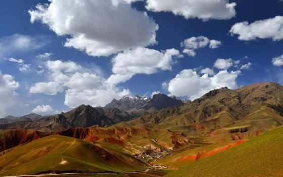 china, небо, mountains