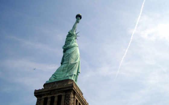 tapety, liberty, pulpit, заставки, darmowe, статуя, hintergrundbild, york, zima,