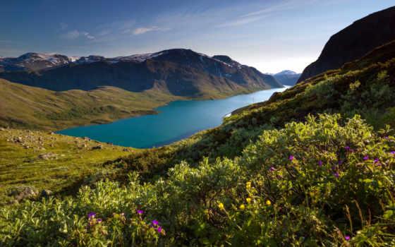 jotunheimen, норвегия, national, park, hiking, besseggen, travel, гряда,