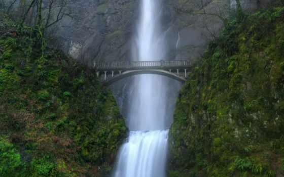 пасть, водопад, foot, reservoir, multnomah
