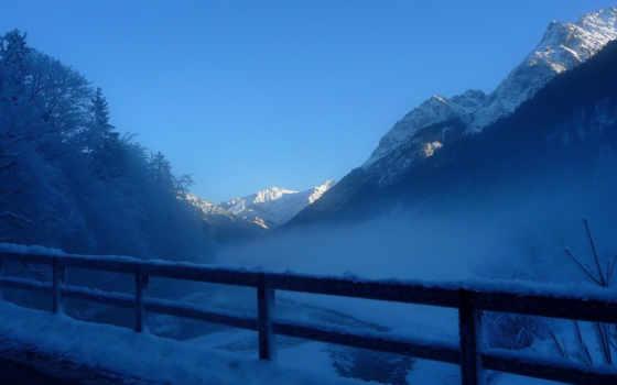 горы, дымка