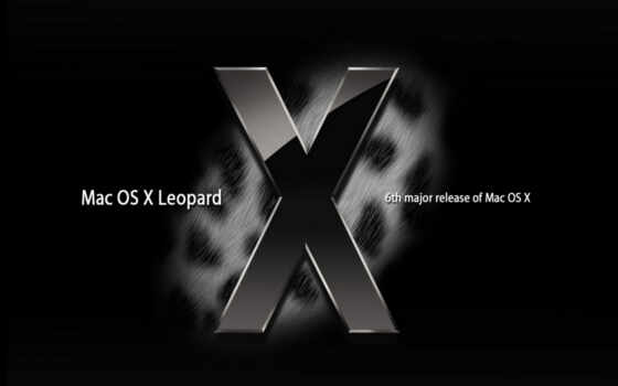 Mac OS X Leopard Black