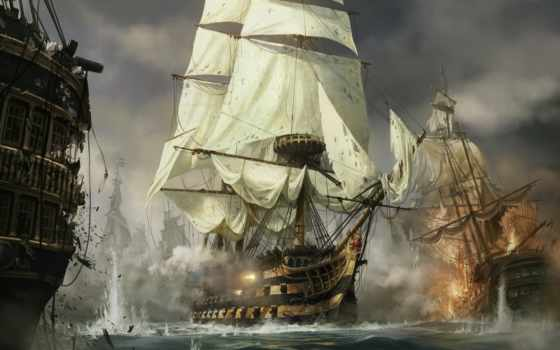 битва, морское, сделать, заказать, ан,