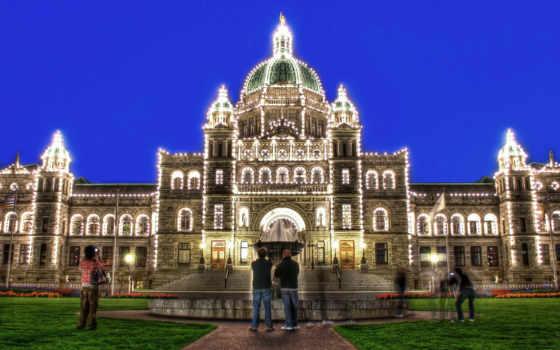 замки, british, дворцы, columbia, victoria, are, buildings, парламент, величием,