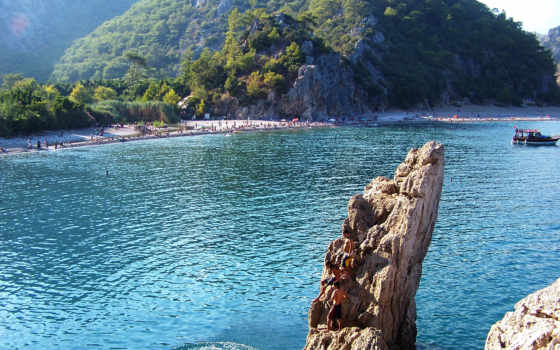 rock, hintergrundbild, пляж, море, landscape, kostenlos,