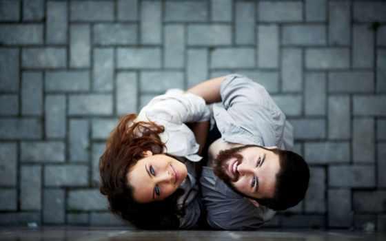парень, девушка, настроения, pair, широкоэкранные, улыбка, размытие, романтика,