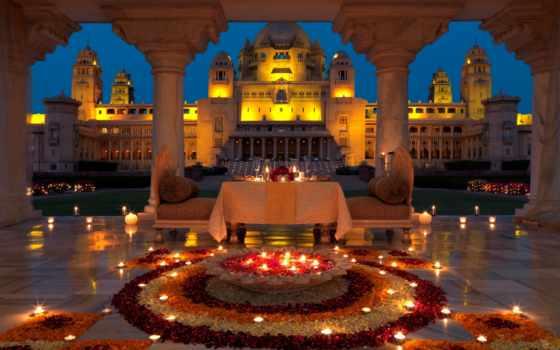 ужин, свечи, вечер, romantic, lounge, кафе, lily, двоих, дворец, india,