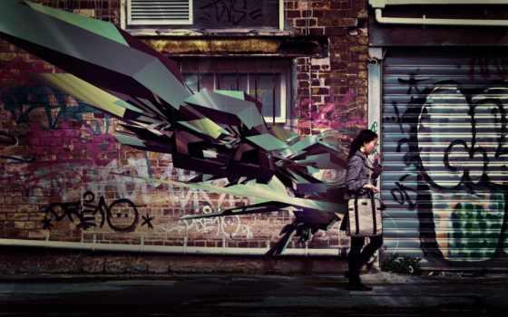 стена, fantasy, ready, graffiti, бесплатные, широкоформатные, стиль, города, невидимка,