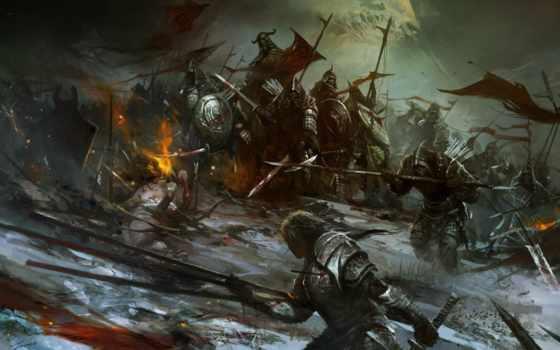 картины, искусства, lin, fantasy, баталии, wenjun, лошадь, войны, холсте, стены, canvas,