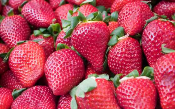 ягоды, images, клубника, листья, ягода, high,