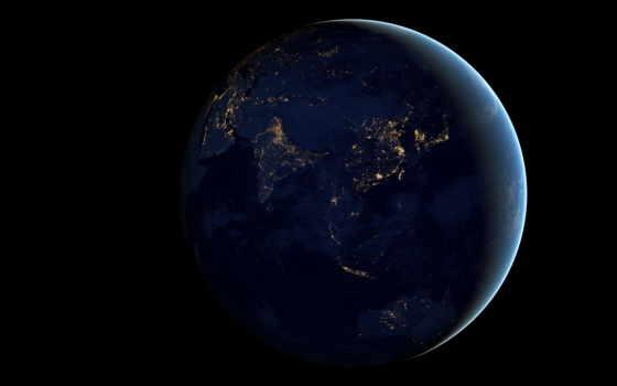 earth, ночь, cosmos, космос, land, земли, nasa, planet, огни,