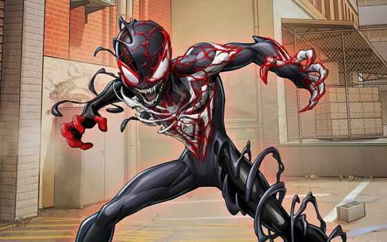 venom, паук, мужчина, mile, marvel, maximum, morale, spiderman, ultimate, comics, комментарий