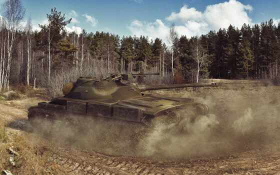 лес, танк, tanks