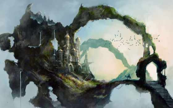 fantasy, art, landscapes, paintings, drawings, landscape, illustrations, more,
