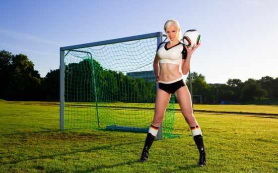 футбол, девушка, футболистка, футбольные,