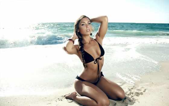 пляж, девушка, pictures, бикини,