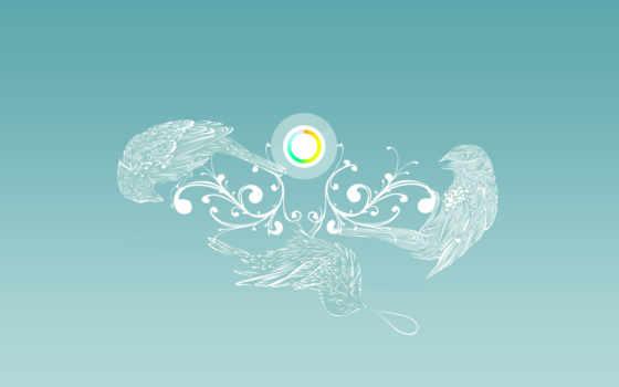 птицы, круг Фон № 9463 разрешение 1920x1200
