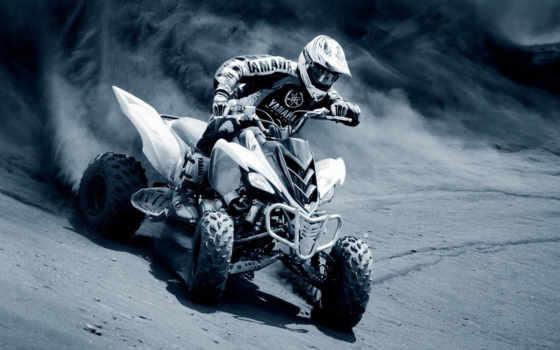 yamaha, гонщик, sports, race, motorcycle, квадроцикл, песку, квадроцикле, грязь, смотрите,