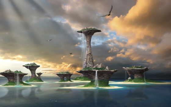 острова, фэнтези, water
